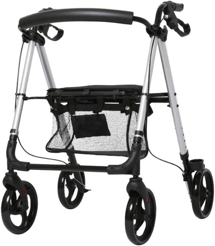 ZTBXQ Bastidores para Caminar con Ruedas Bastidores para Caminar para Ancianos Instrumentos médicos de Ayuda con Andador Interior Rodillo Plegable Walker Rodillo médico liviano