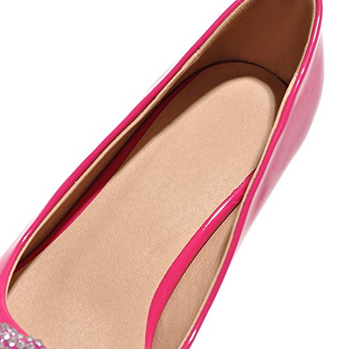 Minivog Zapatos De Bomba Para Mujer High Heeled Rose Red