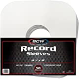 "(100) BCW Brand 12"" Record White Paper Inner Sleeves"