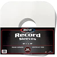(100) BCW Brand 12 Record White Paper Inner Sleeves