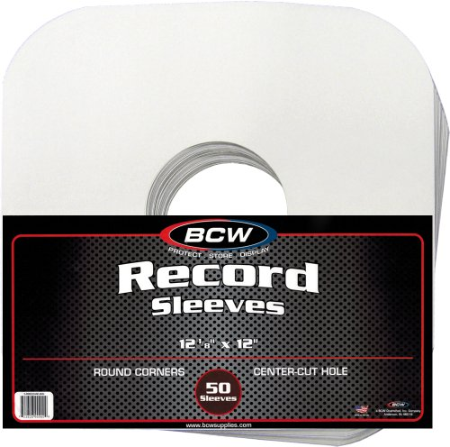 BCW Brand Record White Sleeves