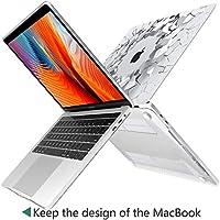 Carcasa MacBook Pro 15 2016 2017,TwoL Funda dura para Nuevo MacBook Pro 15 Touch Bar (A1707),Piedra Transparente
