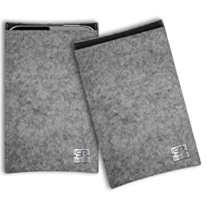 SIMON PIKE Cáscara Funda de móvil Boston 1 gris LG L50 Sporty Fieltro de lana