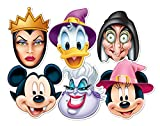 Star Cutouts SMP68 Disney Official Party Mickey Vampire/Minnie Witch/Donald Wizard/Ursula/Wicked Witch/Wicked Queen Disney Halloween Party Mask, One Size