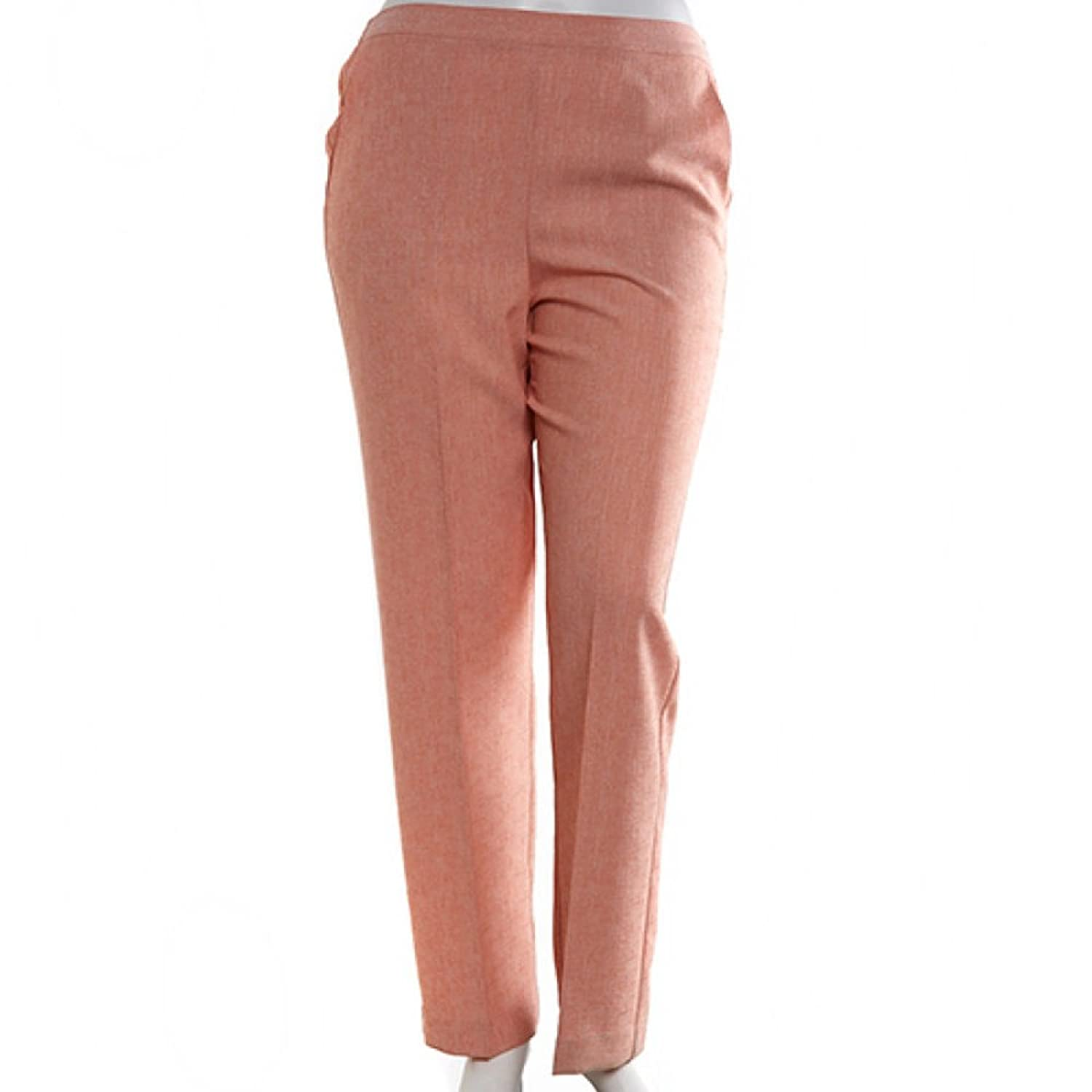 Romancing the Stone Petite Proportioned Pant in Blush By Alfred Dunner