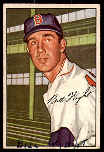 1952 Bowman #117 Bill Wight Poor Red Sox