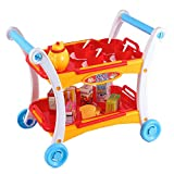 Afternoon Tea Time Trolley Cart Pretend Play Set for Tea Party (23 Pieces)