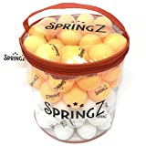 SpringZ Ping Pong Balls Bulk 100-Pack 40mm 3-Star Professional Table Tennis Balls Ideal for Competitive Advanced Training & Beer Pong Games, Optimal Bounce Technology +BONUS Ping Pong Ball Bag!