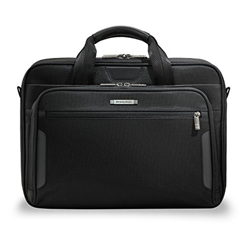 Briggs & Riley @Work Luggage Clamshell Brief, Black, One Siz