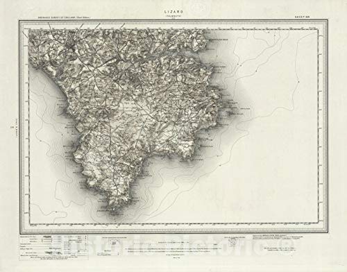 Historic Map | 359 Falmouth (Hills) 1907 | Vintage Wall Art | 30in x 24in ()