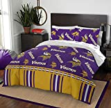 The Northwest Company NFL Minnesota Vikings Queen Bed in a Bag Complete Bedding Set #481877198