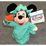 "Disney Statue of Liberty Minnie Mouse 9"" Plush Bean Bag Doll"