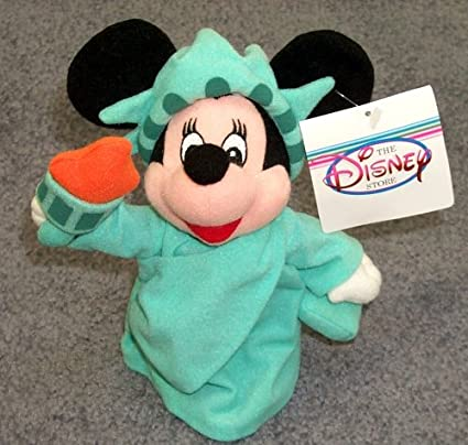 "Disney Statue of Liberty Minnie Mouse 9"" Plush Bean Bag Doll"