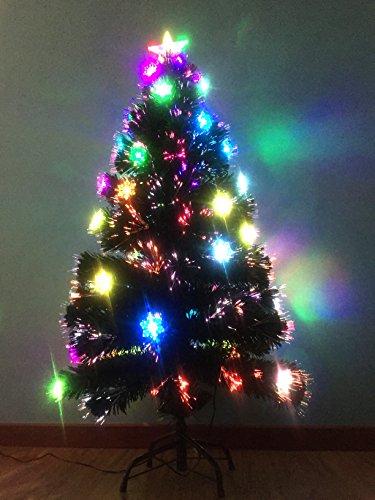 Fiber Optic Trees - Ziburry Fiber Optic Christmas Tree (4ft, Snowflake)