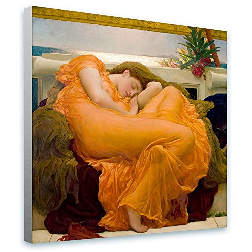 Alonline Art Flaming June Frederic Leighton FRAMED STRETCHED CANVAS (100% Cotton) Gallery Wrapped - READY TO HANG | 12