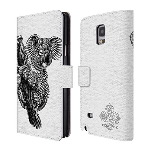 official-bioworkz-ornate-koala-wildlife-leather-book-wallet-case-cover-for-samsung-galaxy-note-4