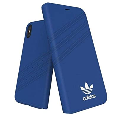 adidas 28354 Originals - Funda de Ante para Apple iPhone X, Color Azul