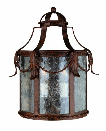 (World Imports 8412-58 Medici Collection 2-Light Wall Lantern, Oxide Bronze)