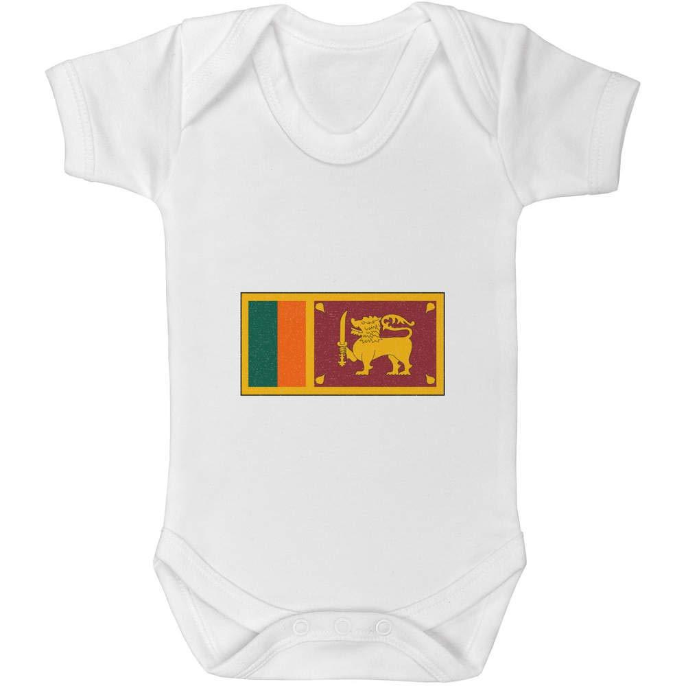 GR00043708 Azeeda 0-3 Month Sri Lanka Flag Baby Grow Bodysuit