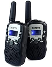 Retevis RT-388 Kids Walkie Talkies 2 Way Radio for Kids LCD Display Flashlight VOX Toy Walkie Talkies for Kids for Birthday Gift Christmas (Yellow,1 Pair)