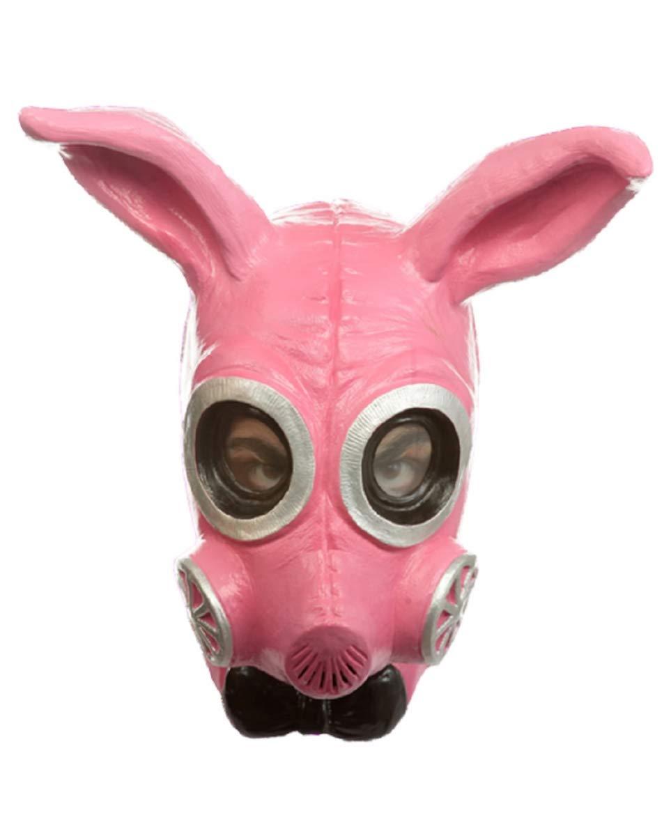 HorrorShop Fetish Bunny Gas Mask Pink