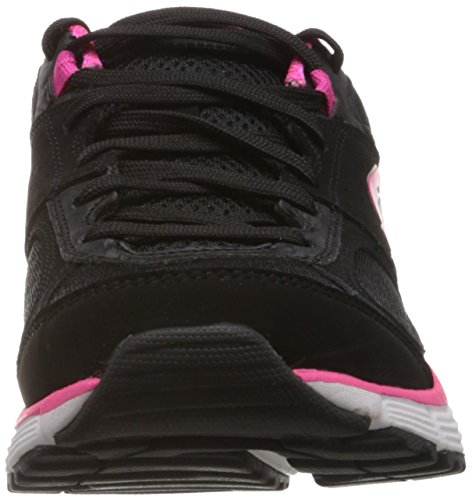 Skechers Agility Perfect Fit, Chaussons Sneaker Femme Noir (Bkhp)