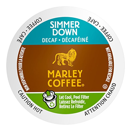 Marley Coffee Steam Down, Organic Decaffeinated, Single Serve, 24 Count