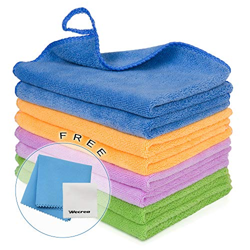 Cleaning House - 8PCS Cleaning Towels for House - Softer Microfiber Cleaning Rags for Kitchen, Car, Glass, Stainless Steel, Premium Absorbent Cleaning Cloths, 2PCS Screen Cloth as Gift