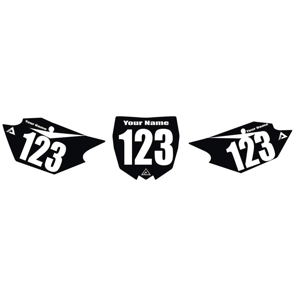 Attack Graphics Number Plate Backgrounds - Fits: Yamaha PW50 YZinger 1995-2009
