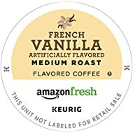 AmazonFresh 80 Ct. Coffee K-Cups, French Vanilla Flavored Medium Roast, Keurig Brewer Compatible