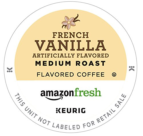 AmazonFresh 80 Ct. Coffee K-Cups, French Vanilla Flavored Medium Roast, Keurig Brewer (Make French Vanilla Coffee)