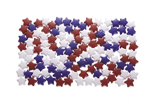 Daricepony Beads - Acrylic - Star - Opaque Red, White & Blue - 7 X 12Mm - 1 Lb]()