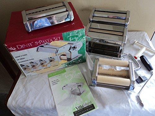 VillaWare Al Dente 5-Pasta Maker Set #178 (Villaware Pasta Machine)