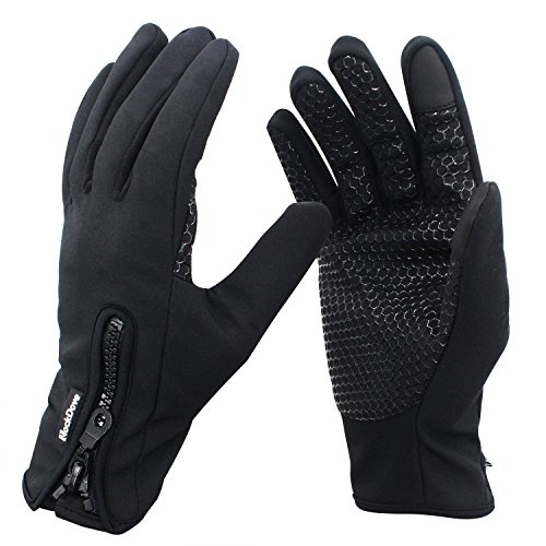 Rock Screen (RockDove Winter Cold Weather Outdoor Sports Gloves, Windproof Water Resistant Touchscreen Zippered Unisex Gloves for Men & Women)