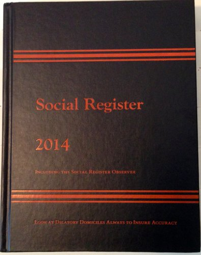 Social Register 2014 - Including The Social Register Observer, Issue XL (The Social Register compare prices)