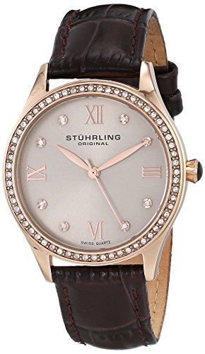 Stuhrling Original Women's 431.05 Vogue Swiss Quartz Rose Tone Brown Watch by Stuhrling Original