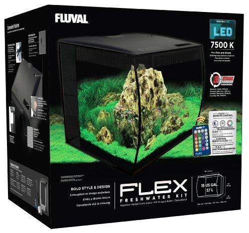 Hagen HG Fluval Flex Aquarium 57L, 15gal, Black 1