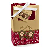 Big Dot of Happiness Twin Little Cowboys - Western Baby Shower or Birthday Party Favor Boxes - Set of 12