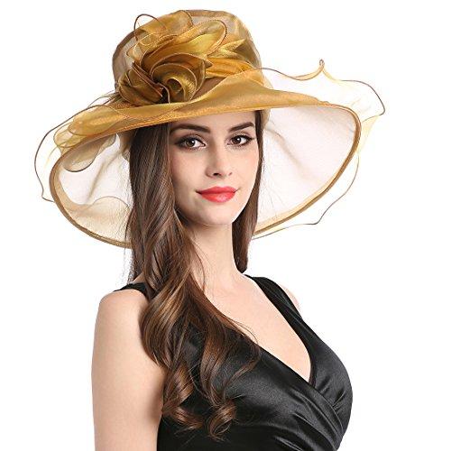Church Tea - Women's Organza Church Derby Fascinator Cap Kentucky Tea Party Wedding Hat