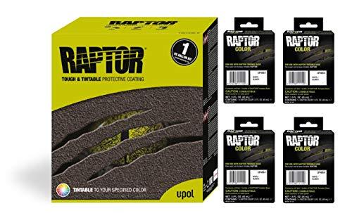 Raptor UP5054 Truck Bed Liner 1US Gallon + 4 White Colors Bundle