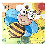 Bee Puzzles,Wooden Puzzle Educational Developmental Baby Kids Training Toy,Arts & Crafts Supplies,Multicolor