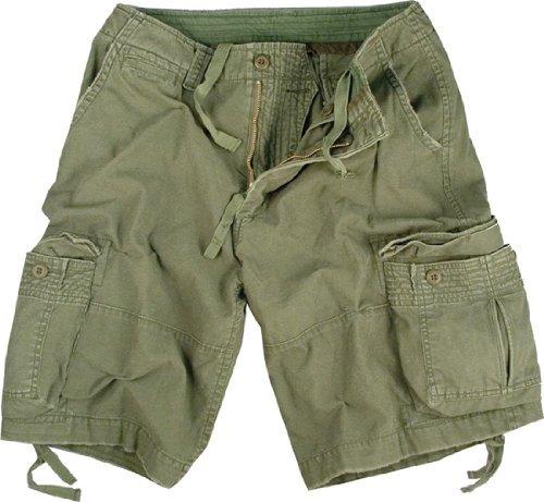 Military Style Short - Olive Drab Infantry Vintage Military Cargo Utility Shorts, XX-Large