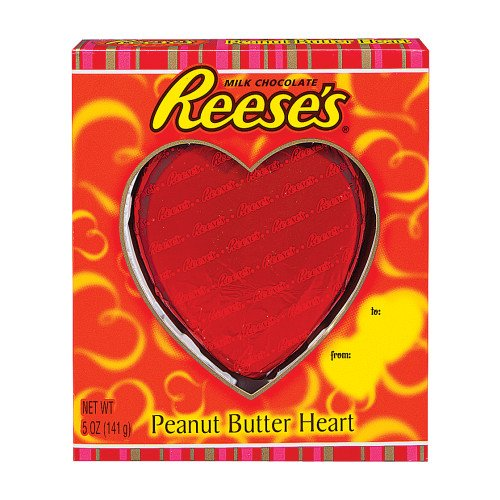 VALENTINES DAY CANDY CHOCOLATE HEART REESES PEANUT BUTTER FILLED 5 OZ