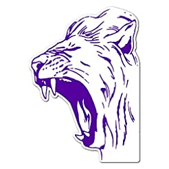 Roaring Lion Head Teeth - Vinyl Decal St...