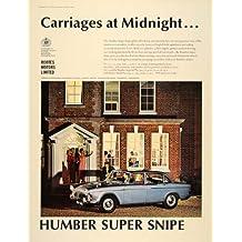 1965 Ad Humbler Super Snipe Blue British Car Automobile - Original Print Ad