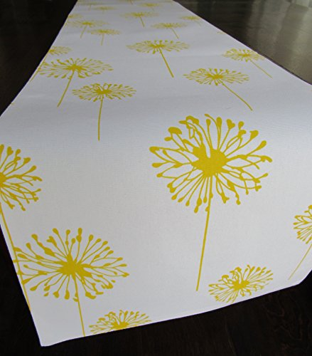 Yellow Dandelion Table Runner Collection