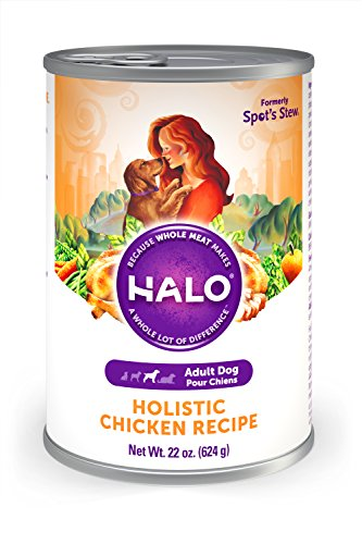 Halo Natural Wet Dog Food, Chicken Recipe, 22-Ounce Can (Pack of 6)
