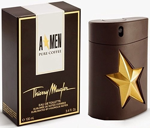 Thierry Mugler Men Pure Coffee Eau de Toilette Cologne Spray for Men, 3.4 Ounce ()