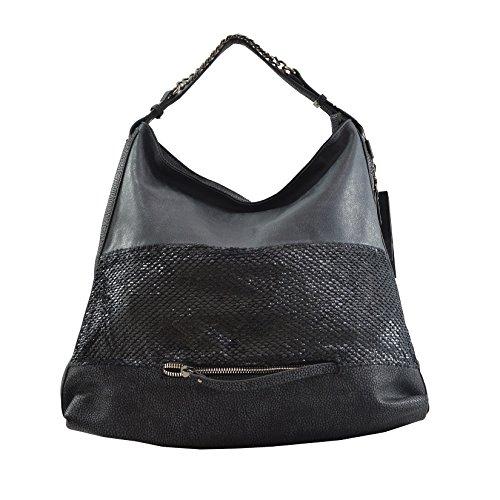 Cm Bag Imprimer 45x37x16 Femme Lookat en Dollar Noir PU Tote cuir wzZzqx