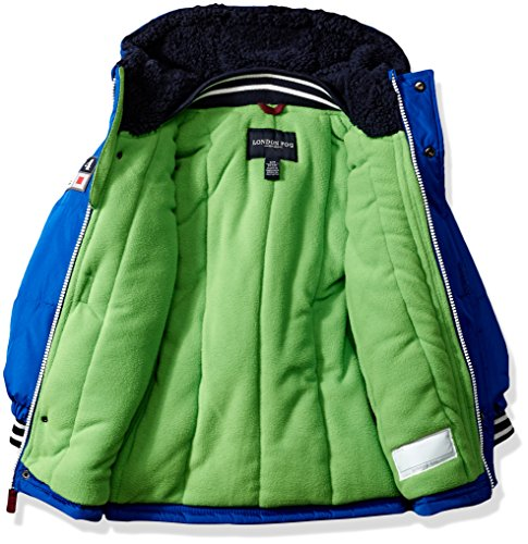 London Fog Baby Toddler Boys' Heavyweight Shirt Pocket Parka Coat, Blue, 2T by London Fog (Image #2)
